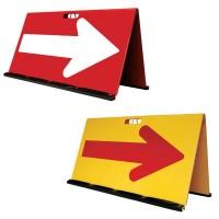 三甲 サンコー 山型方向板矢印反射 赤・白・8Y2020