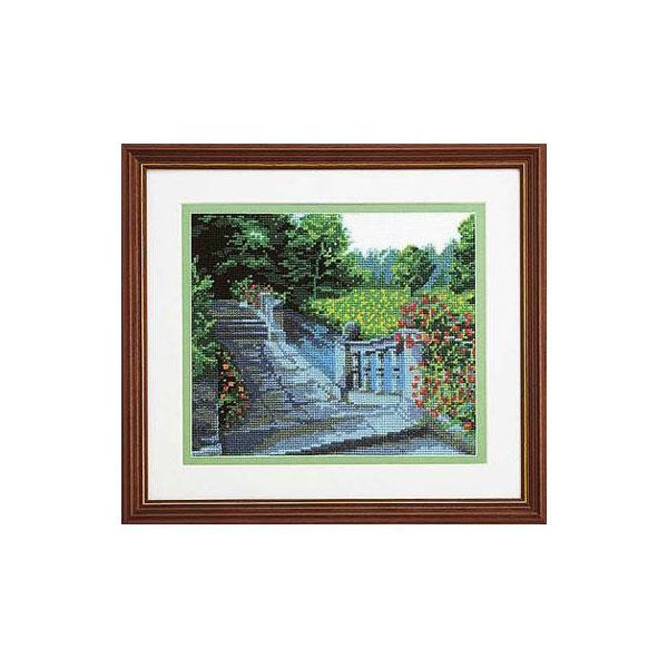 7016 オリムパス ししゅうキット フレーム 水辺の庭園