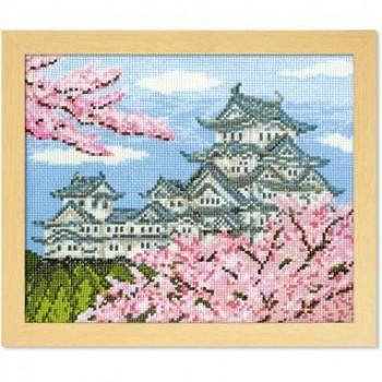 7414 オリムパス ししゅうキット フレーム 春の姫路城
