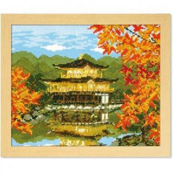 7416 オリムパス ししゅうキット フレーム 秋の金閣寺