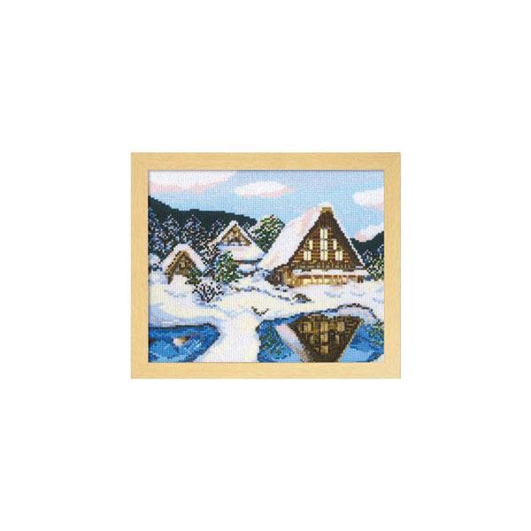 7389 オリムパス ししゅうキット フレーム 雪の白川郷