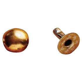 クラフト社 レザークラフト用 金具飾りカシメ 中 20個 G(ゴールド) 1014-02