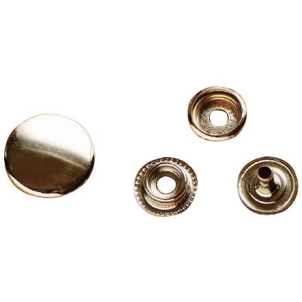 クラフト社 レザークラフト用 金具ジャンパードット 20個 大 N(ニッケル) 1066-01