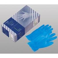 シンガープラスチックグローブ(手袋) SP201 パウダーフリー ブルー(100枚) S