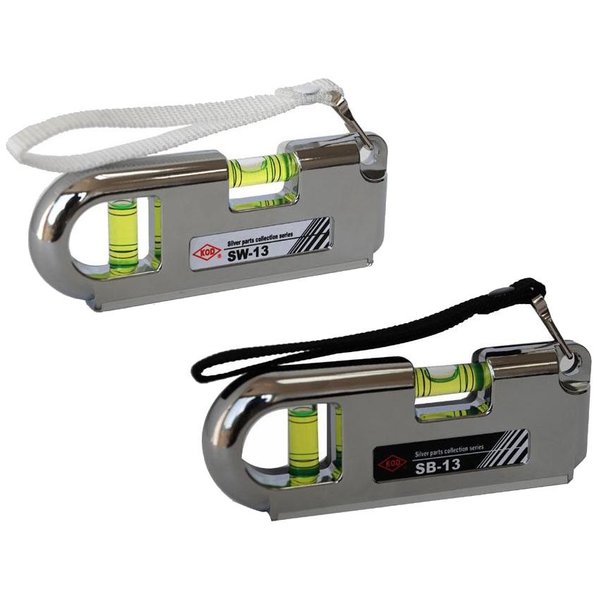 アカツキ ポケット水平器 ホワイトSW-13