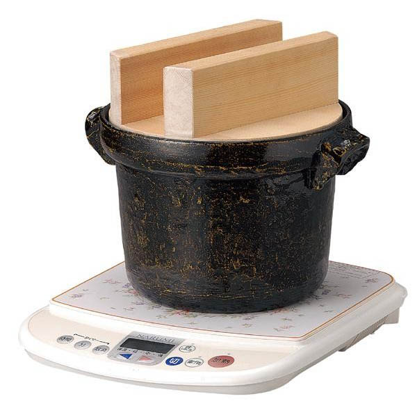 117-9 IH対応 電磁用ごはん鍋 5合用 白木蓋付