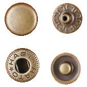 クラフト社 レザークラフト用 金具ホック 小 30個 1041-07 AT(アンティーク真鍮)