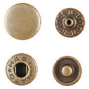クラフト社 レザークラフト用 金具ホック 中 30個 1042-07 AT(アンティーク真鍮)