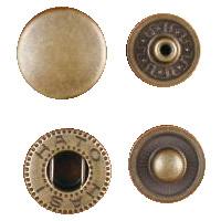 クラフト社 レザークラフト用 金具ホック 大 30個 1045-07 AT(アンティーク真鍮)