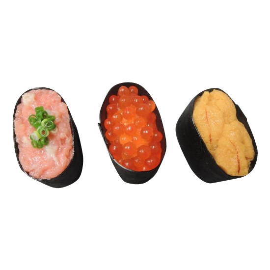 日本職人が作る  食品サンプル寿司マグネット 軍艦三昧 IP-154