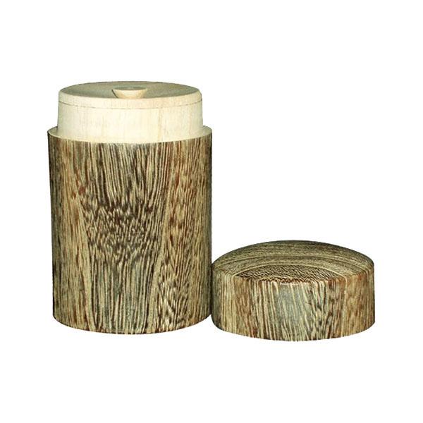 0M26-4 丸十 木製 桐 丸型茶筒 大