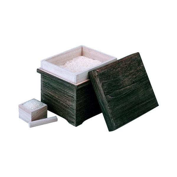 0M26-14 丸十 木製 焼桐米びつ 5kg用 枡付