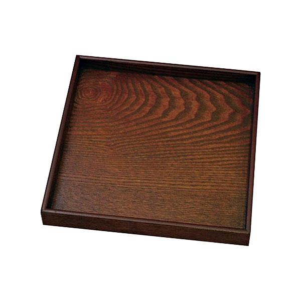 0F28-13 丸十 木製 宴 10.0角盆 目摺り