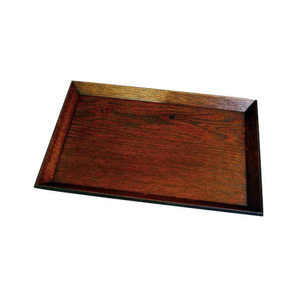 0F28-20 丸十 木製 宴 10.0長角四方盆 目摺り