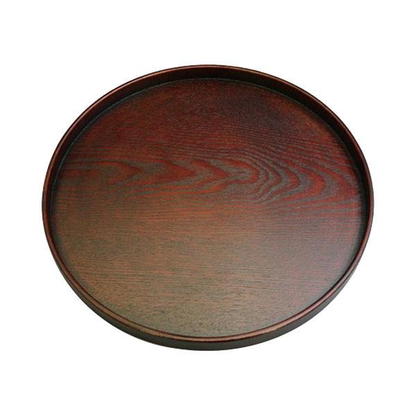 0R30-1 丸十 木製 10.0丸盆 目摺り