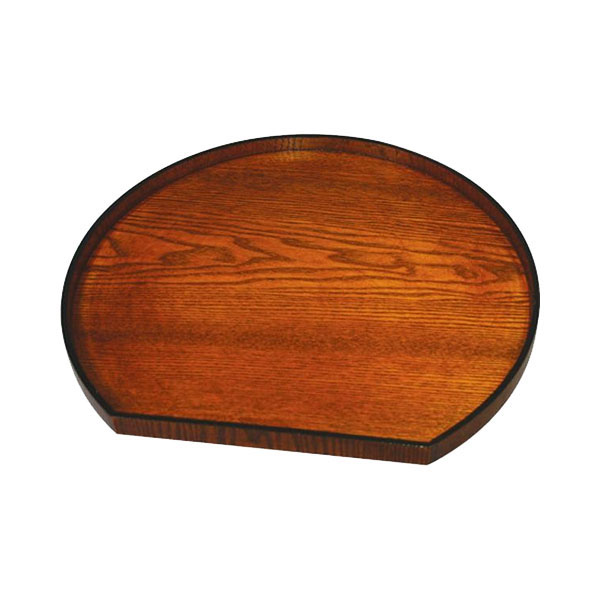 0R30-5 丸十 木製 12.0半月会席盆 目摺り