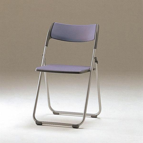折畳み椅子・フラット収納 6脚セット SCF65-MX ブルー