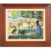 ししゅうキット 875(ベージュ) アートギャラリー 「グランド・ジャット島の日曜日」スーラ作