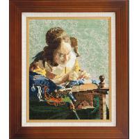 ししゅうキット 878(ベージュ) アートギャラリー 「レースを編む女」フェルメール作