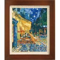 ししゅうキット 7214(ベージュ) アートギャラリー 「夜のカフェテラス」ゴッホ作