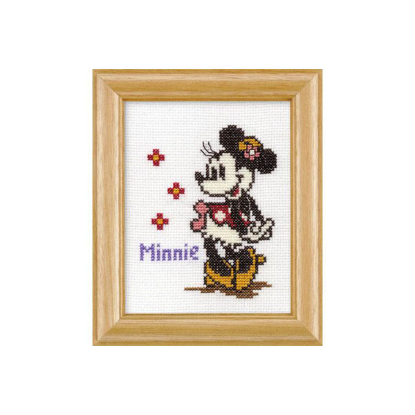 オリムパス 7235 ししゅうキット ディズニー ミニーマウス(専用額付)