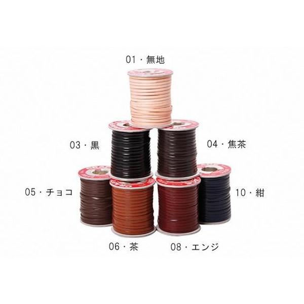 クラフト社 かがり用レース クラフトレース巻 3mm巾×30m巻 0.7mm厚 1巻 3524 01・無地