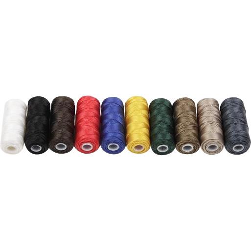 クラフト社 レザークラフト用 ナイロンボンド糸 50m 8616  全10色セット