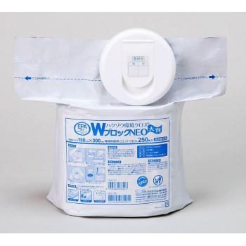 ハクゾウメディカル 洗浄・除菌用ウエットクロス ハクゾウ環境クロスWブロック 大判詰替用 250枚入 2600175