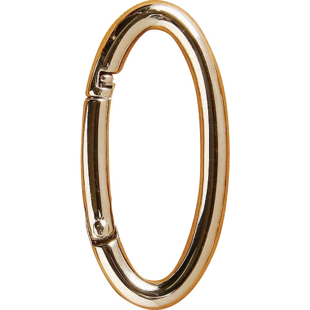 クラフト社 レザークラフト用金具 楕円カラビナ 10個セット 1862