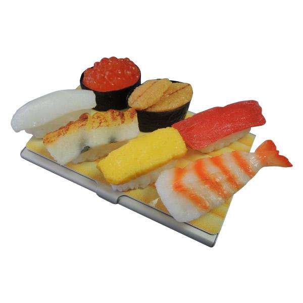 日本職人が作る 食品サンプル名刺ケース ミニチュア寿司 IP-190