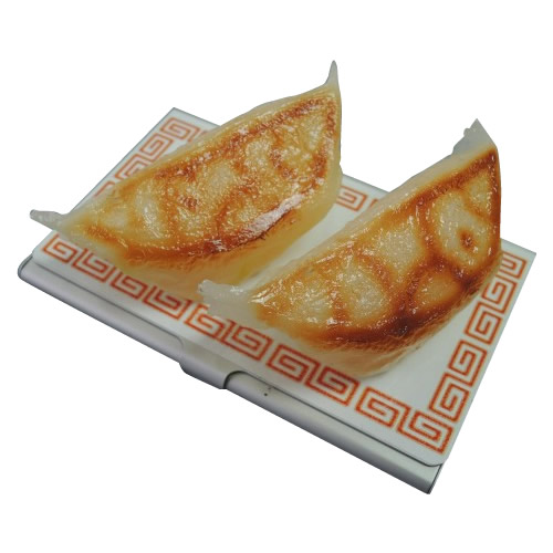 日本職人が作る 食品サンプル名刺ケース ぎょうざ IP-191