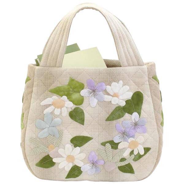 オリムパス 大畑美佳デザイン パッチワークバッグ マチまでこだわった お花とアイビーのコロンバッグ