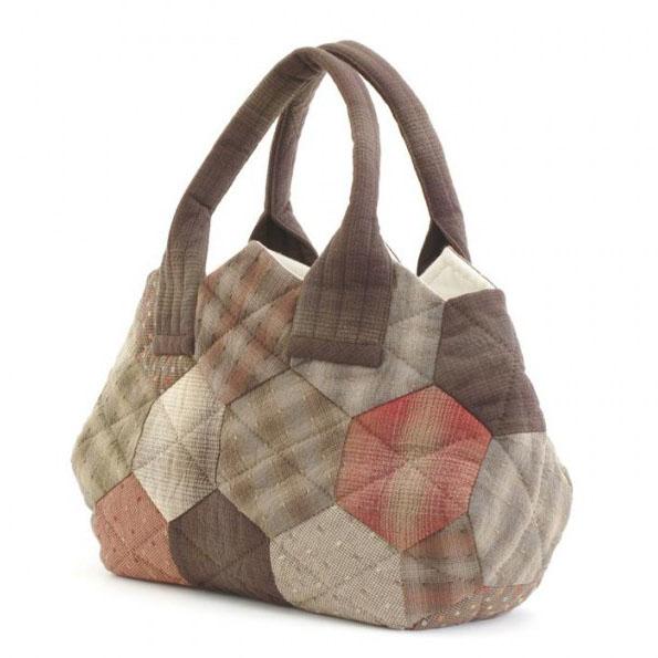 オリムパス 大畑美佳デザイン パッチワークバッグ つなぐだけでカンタン ハニカムのバッグ