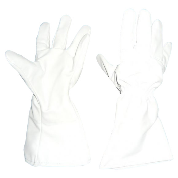 GABA 薔薇用突刺防止袖長手袋 フリーサイズ ライトグレー SP-5FB
