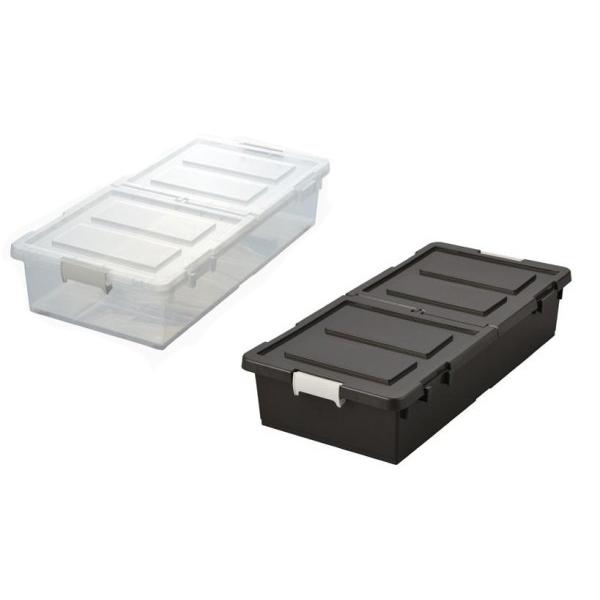 ベッド下収納ボックス 6個組 クリア・34375