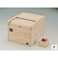 おいしく保存 桐製米びつ10kg用 H-5548