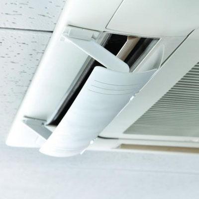 エアコン風の風向きを自由に調整! ウェーブルーバー(幅広) 2枚羽タイプ GLW50 アイボリー
