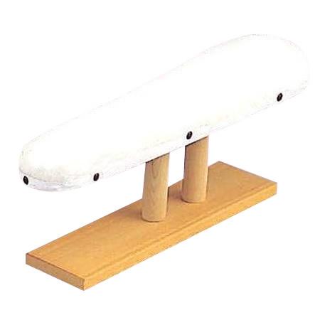 アイロン用具 仕上げ馬(中) 白 (約49×13×H18cm) M-2