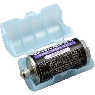 スマイルキッズ(SMILE KIDS) 単2が単1になる電池アダプター(2個入り) ブルー ADC-210