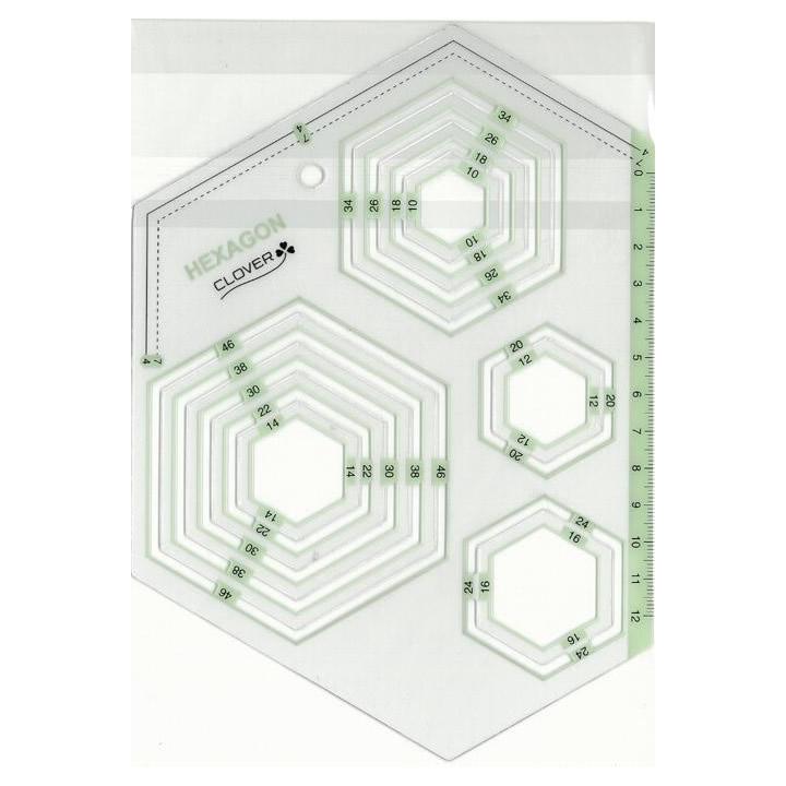 クロバー ピーステンプレート 六角形 57-995
