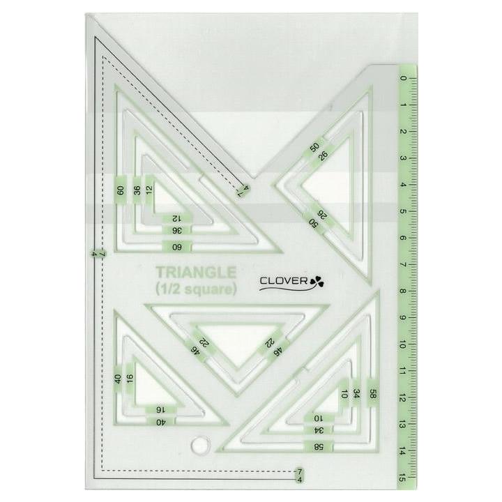 クロバー ピーステンプレート 直角三角形1/2 58-000