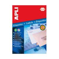 APLI インクジェットA4透明ラベル 10枚44面 10050