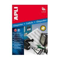 APLI レーザーコピーA4メタルラベル 20枚1面 シルバー 10071