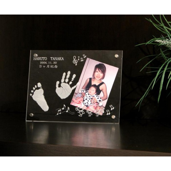 オーダーメイド メモリアル 赤ちゃん手形・足型 写真立て