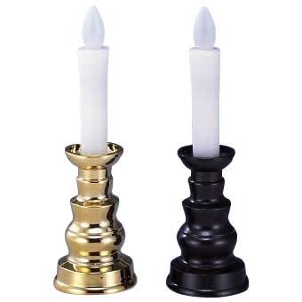 燭台付安心のろうそく(小) ARO-4202 ゴールド