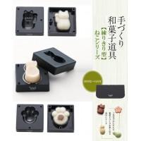 pos.204319 千葉真知子 手づくり和菓子道具 練りきり型 猫シリーズ(へら付) CWC3S